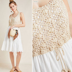 Crochet Eyelet Dress